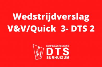 DTS 2 moet genoegen nemen met punt tegen Vlug en Vaardig/Quick '21 3